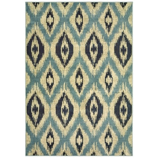 "Style Haven Azul Vue Blue/Grey Area Rug (6'7 x 9'6) - 6'7"" x 9'6"""