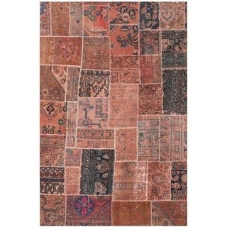 Herat Oriental Pak Persian Hand-knotted Patchwork Wool Rug (4'9 x 7'4)