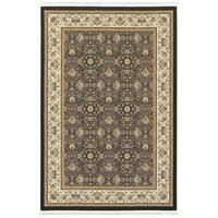 Laurel Creek Bert Medallions Panel Navy/Ivory Fringe Area Rug - 6'7 x 9'6