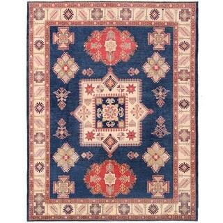 Handmade Vegetable Dye Kazak Wool Rug (Afghanistan) - 9'3 x 11'10