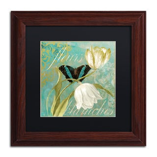 Color Bakery 'White Tulips II' Matted Framed Art