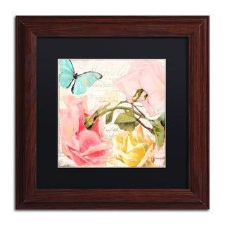 Color Bakery 'Florabella I' Matted Framed Art