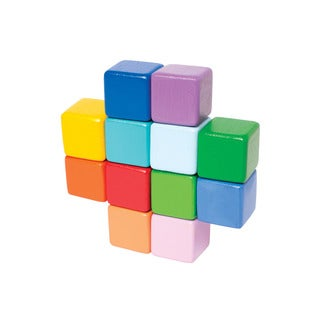 Manhattan Toy Multicolored Wood Baby Stacking Cubes