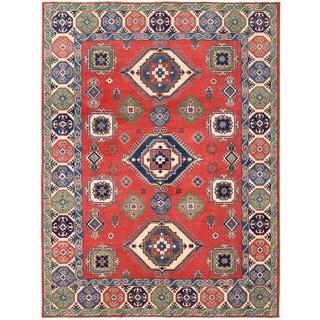 Herat Oriental Afghan Hand-knotted Vegetable Dye Kazak Wool Rug (8'9 x 11'8)