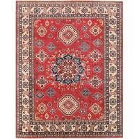 Handmade Herat Oriental Afghan Vegetable Dye Kazak Wool Rug - 9' x 11'8 (Afghanistan)