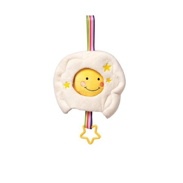 Manhattan Toy Lullaby MulticoloredCotton Musical Sun/Rainbow Crib Pull Toy