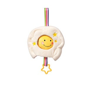 Manhattan Toy Lullaby MulticoloredCotton Musical Sun/Rainbow Crib Pull Toy