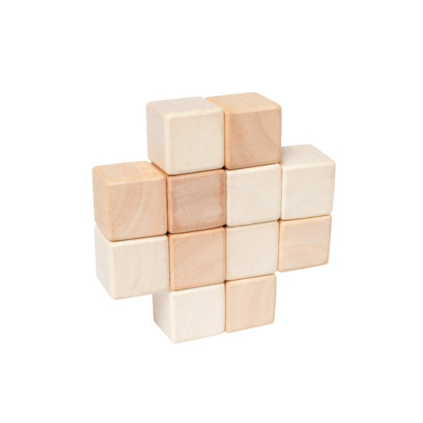 Manhattan Toy Baby Natural-colored Wood Stacker Cubes