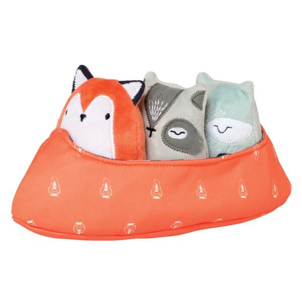 Manhattan Toy Camp Acorn Canoe Buddies Plush Set