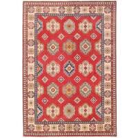 Herat Oriental Afghan Hand-knotted Vegetable Dye Kazak Wool Rug (8'9 x 12'7)