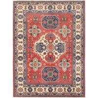 Herat Oriental Afghan Hand-knotted Vegetable Dye Kazak Wool Rug (8'3 x 11')