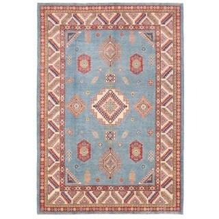 Handmade Vegetable Dye Kazak Wool Rug (Afghanistan) - 8'6 x 12'2