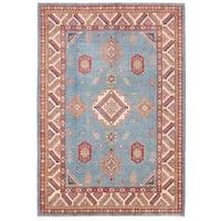 Herat Oriental Afghan Hand-knotted Vegetable Dye Kazak Wool Rug (8'6 x 12'2)