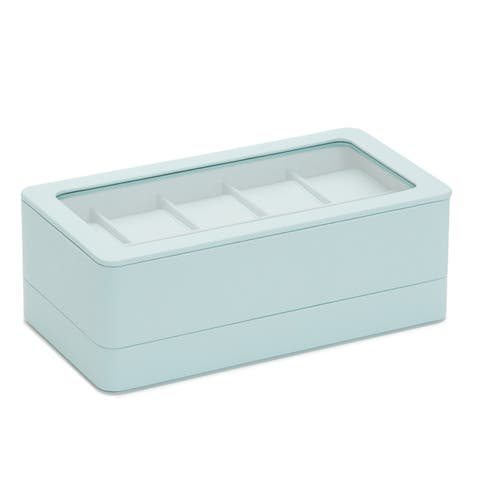 Wolf 6 Piece Watch Box w/ Strap Tray for Apple Watch