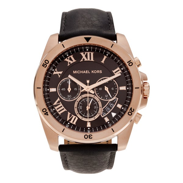 c9351c570b0d Shop Michael Kors Men s MK8544  Brecken  Rose Gold-tone Stainless ...