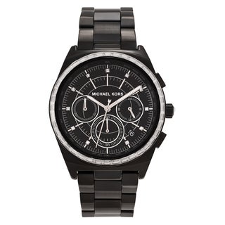 Michael Kors Women's MK6423 'Vail' Black-plated Stainless Steel Chronograph Dial Link Bracelet Watch