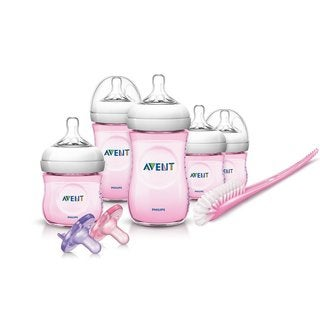 Philips Avent Natural Infant Pink Plastic 13-piece Baby Bottle Starter Set