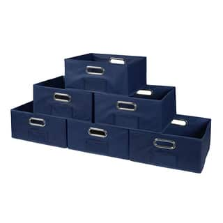 Niche Cubo Set of 12 Half-Size Foldable Fabric Storage Bins|https://ak1.ostkcdn.com/images/products/14803639/P21322489.jpg?impolicy=medium