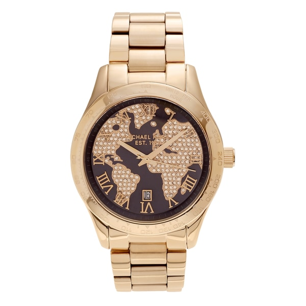 Michael kors layton world map watch james and the giant peach dvd 2010 michael kors is by far the go to youll arrive fashionably on time with a michael kors wristwatch from world of watches michael kors mens laytonwitusa gumiabroncs Gallery