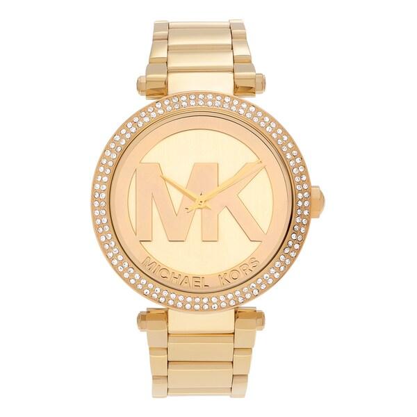 Shop Michael Kors Women's MK5784 'Parker' Goldtone Stainless