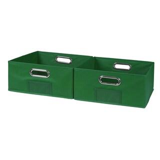 Niche Cubo Half-Size Foldable Fabric Storage Bins- Set of 2