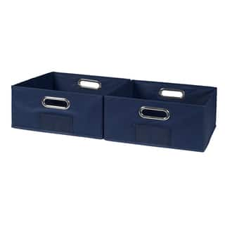 Niche Cubo Set of 2 Half-Size Foldable Fabric Storage Bins|https://ak1.ostkcdn.com/images/products/14803703/P21322490.jpg?impolicy=medium