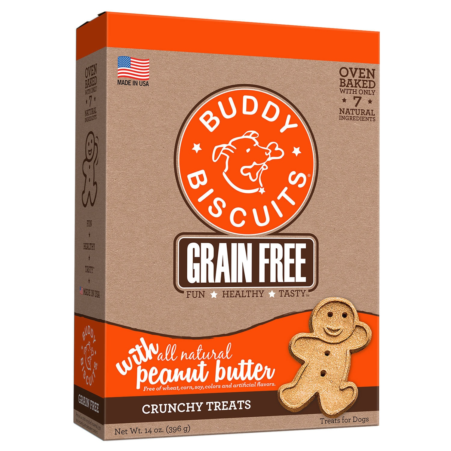 Cloud Star Oven Baked Buddy Biscuits Homestyle Peanut But...