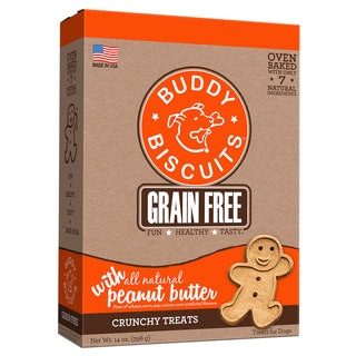 Buddy Biscuits Grain Free Oven Baked Crunchy Dog Treats Peanut Butter