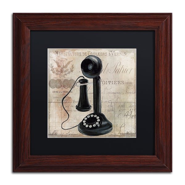 Color Bakery 'Call Waiting I' Matted Framed Art