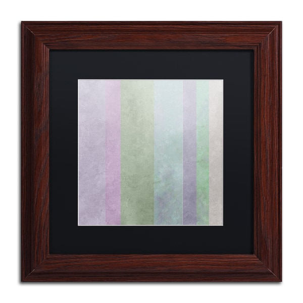Color Bakery 'Hortensia Stripes' Matted Framed Art - Blue