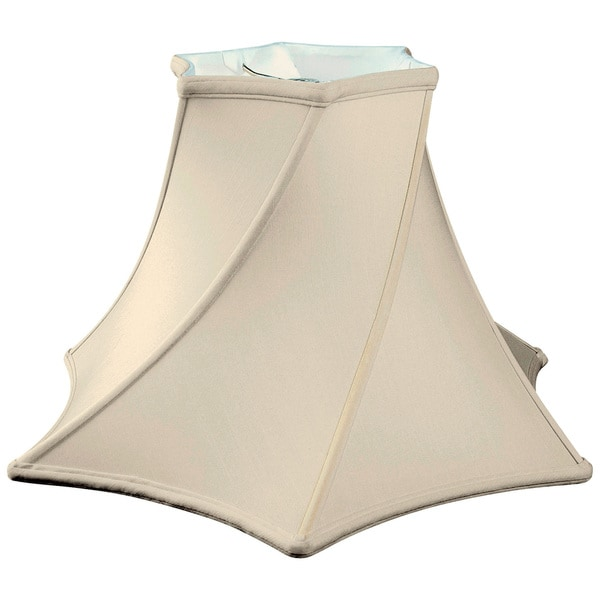 Royal Designs Twisted Hexagon Bell Basic Lamp Shade, Eggshell, 8 x 18 x 12