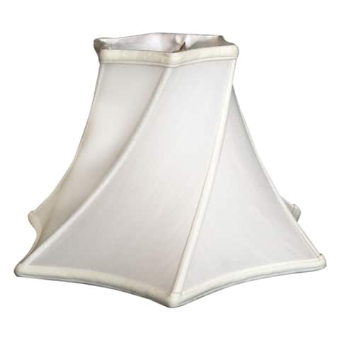 Royal Designs Twisted Hexagon Bell Basic Lamp Shade, White, 6.5 x 16 x 10.25