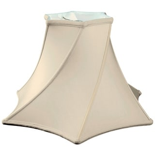 Royal Designs Twisted Hexagon Bell Basic Lamp Shade, Eggshell, 6.5 x 16 x 10.25