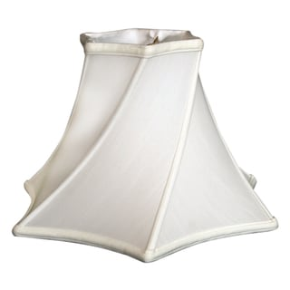 Royal Designs Twisted Hexagon Bell Basic Lamp Shade, White, 6 x 13.5 x 9.25