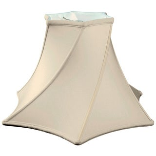 Royal Designs Twisted Hexagon Bell Basic Lamp Shade, Eggshell, 6 x 13.5 x 9.25