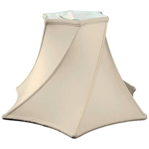 Royal Designs Twisted Hexagon Bell Basic Lamp Shade, Eggshell, 4.5 x 11 x 7.75