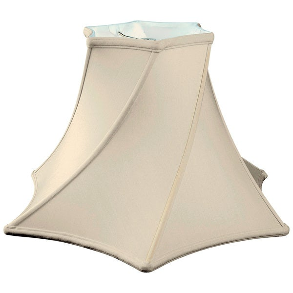 Royal Designs Twisted Hexagon Bell Basic Lamp Shade, Eggshell, 4.5 x 11 x 7.75