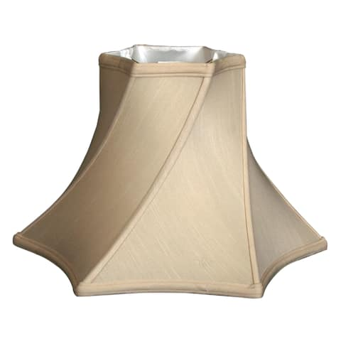 Royal Designs Twisted Hexagon Bell Basic Lamp Shade, Beige, 4.5 x 11 x 7.75