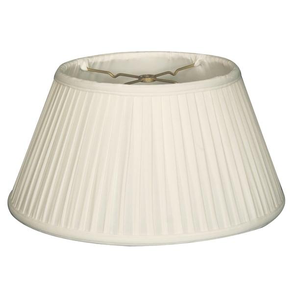 Royal Designs 6-Way / Side Pleat Basic Lamp Shade, White, 8 x 12.5 x 7.50