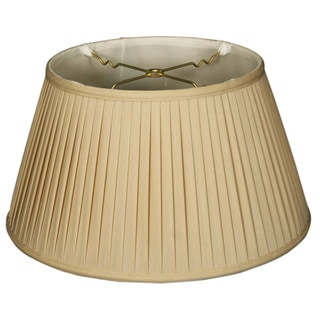 Royal Designs 6-Way / Side Pleat Basic Lamp Shade, Beige, 13 x 19 x 10.5