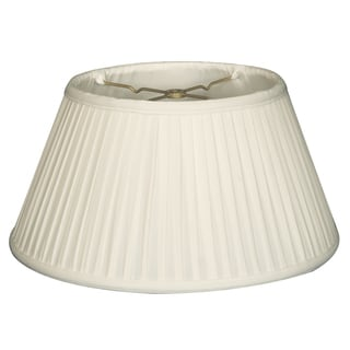 Royal Designs 6-Way / Side Pleat Basic Lamp Shade, White, 11.5 x 17 x 9.5