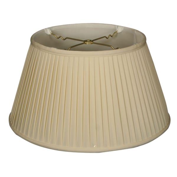 Royal Designs 6-Way / Side Pleat Basic Lamp Shade, Eggshell, 11.5 x 17 x 9.5