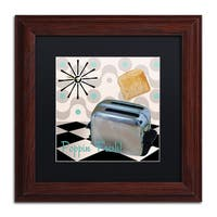 Color Bakery 'Fifties Kitchen I' Matted Framed Art - Black