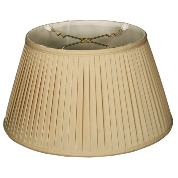 Royal Designs 6-Way / Side Pleat Basic Lamp Shade, Beige, 11.5 x 17 x 9.5