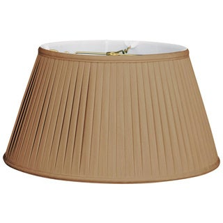Royal Designs 6-Way / Side Pleat Basic Lamp Shade, Antique Gold, 11.5 x 17 x 9.5