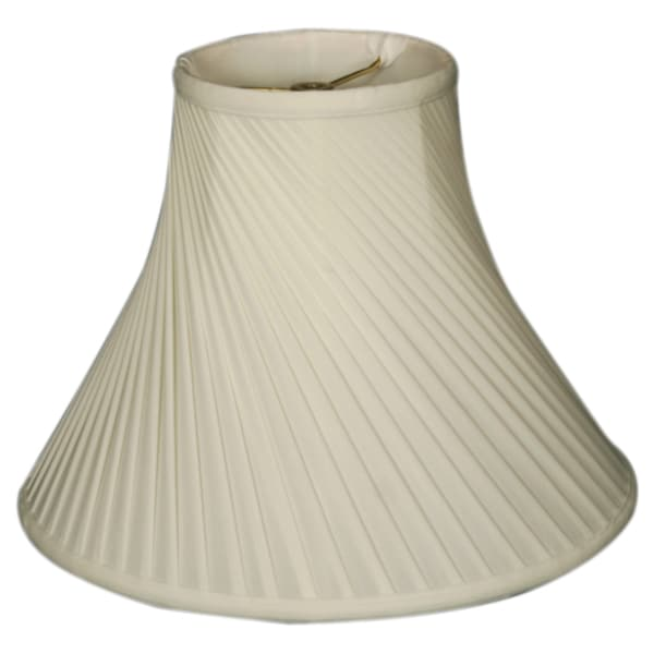 Royal Designs Twisted Pleat Basic Lamp Shade, White, 5 x 10 x 8