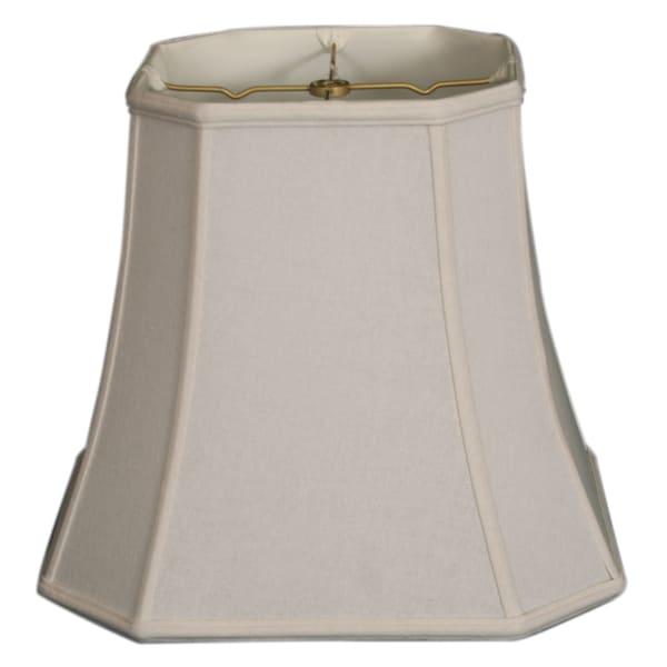 Royal Designs Square Cut Corner Basic Lamp Shade, Linen White, 11 x 17 x 15
