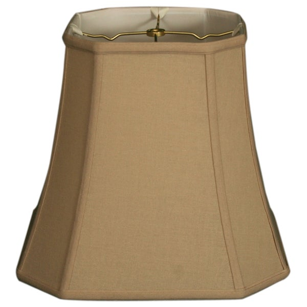 Royal Designs Square Cut Corner Basic Lamp Shade, Linen Beige, 10 x 16 x 14