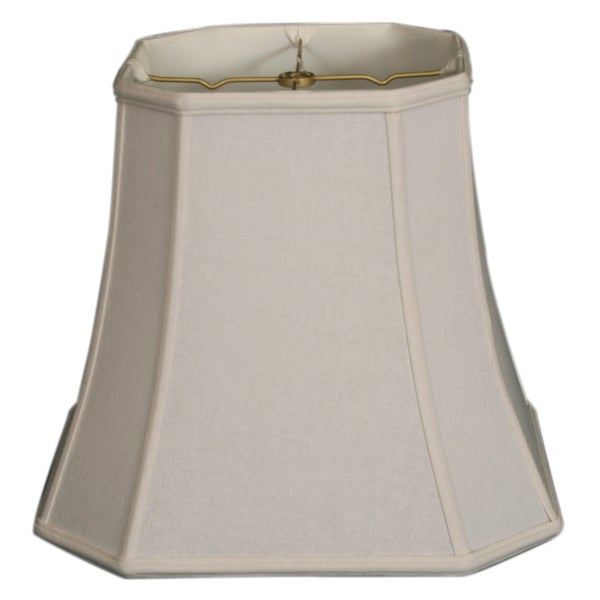 Royal Designs Square Cut Corner Basic Lamp Shade, Linen White, 9.5 x 15 x 13.5