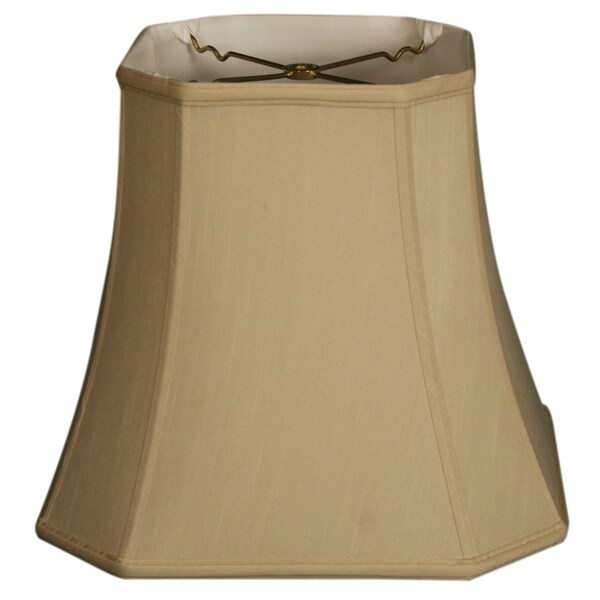 Royal Designs Square Cut Corner Basic Lamp Shade, Beige, 9.5 x 15 x 13.5